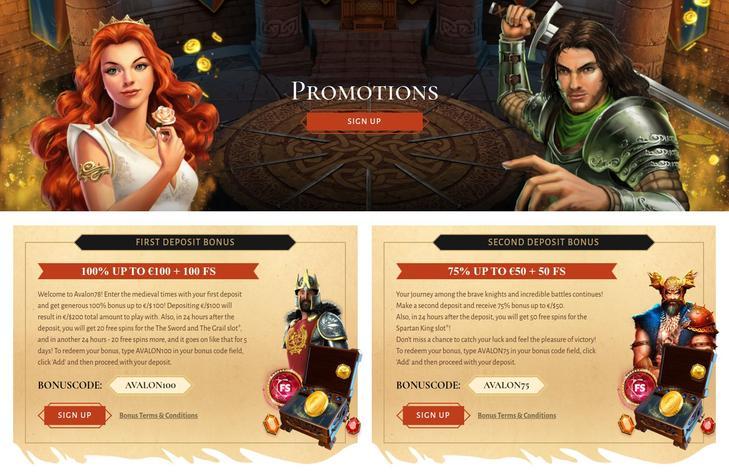 Avalon78 casino bonus