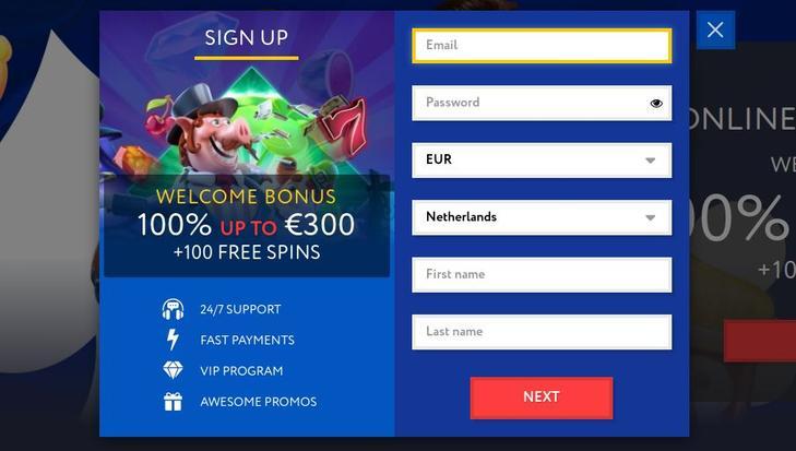 EUSlot Casino Registreren