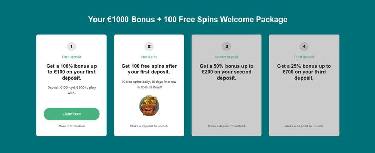 Lucky Days Casino Welkomstbonus